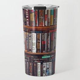 Stephen King Books on Shelves Travel Mug