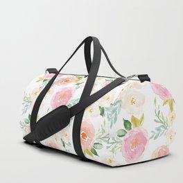 Sweet Pink Blooms (Floral 02) Duffle Bag