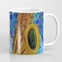 saxophone Mugs featuring Saxophone  by gretzky