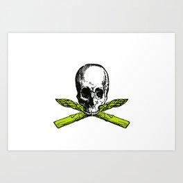 skull asparagus Art Print