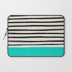 Aqua & Stripes Laptop Sleeve