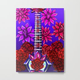 Fusion Keyblade Guitar #75 - Crown of Guilt & Divine Rose Metal Print