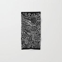 Black and White Street Art Tribal Graffiti Hand & Bath Towel