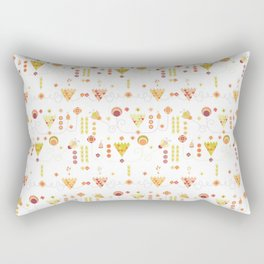 Geometric and flowers Rectangular Pillow