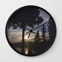 lets watch the sunset Wall Clock