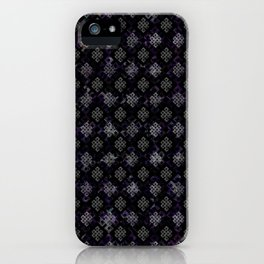 Endless Knot pattern - Silver and Amethyst iPhone Case