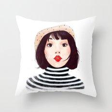French woman Throw Pillow