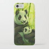 pandas iPhone & iPod Cases featuring Pandas by Keshi