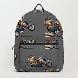 Biker Hog Motorcycle Cartoon Backpack