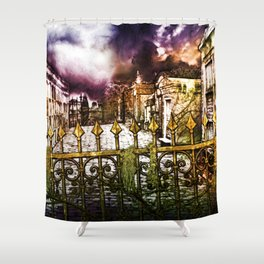 New Orleans cemetery Shower Curtain