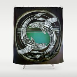 """Astrological Mechanism - Pisces"" Shower Curtain"