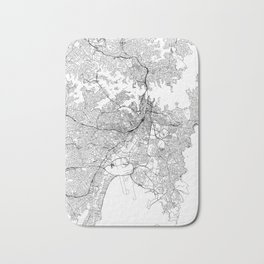 Sydney White Map Bath Mat