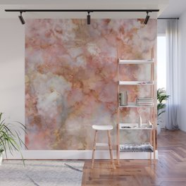 Beautiful & Dreamy Rose Gold Marble Wall Mural