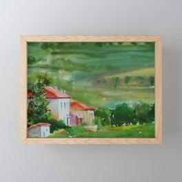 Tuscan Landscape Framed Mini Art Print