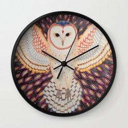 Flying Barn Owl Wall Clock