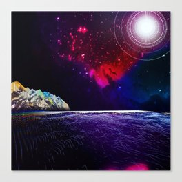The Electric Ocean Canvas Print