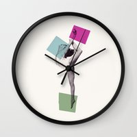 dance Wall Clocks featuring Dance by Lucy Driscoll