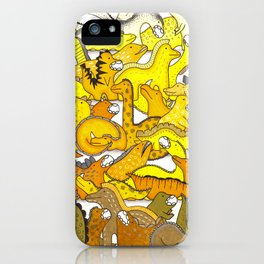 Yellow Dinosaur Gradient iPhone Case