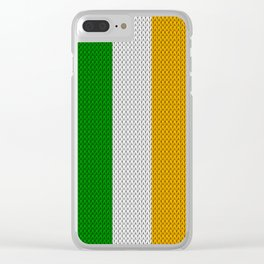 Flag of Ireland - knitted Clear iPhone Case