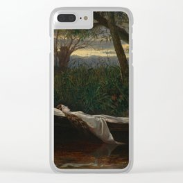 "Walter Crane ""The Lady of Shalott"" Clear iPhone Case"