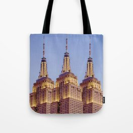 Empire State Building Surreal New York Skyline Tote Bag