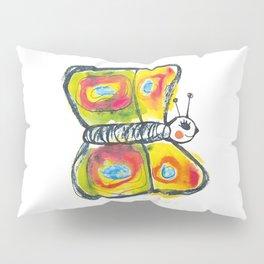 Colourfull butterfly illustration for kids Pillow Sham