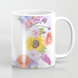 arrangement of colorful flowers for background Coffee Mug