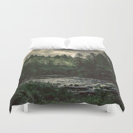Pacific Northwest River - Nature Photography Duvet Cover