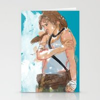 tomb raider Stationery Cards featuring Tomb Raider by Robbie Drew Dixon