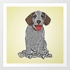 Dog Style Art Print