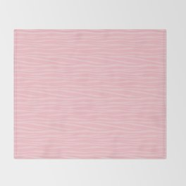 Zebra Print - Pink Marshmallow Throw Blanket