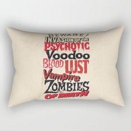 B Movie Beware Rectangular Pillow