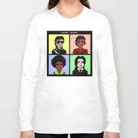 michael jackson Long Sleeve T-shirts featuring Michael Jackson History  by Pixel Faces