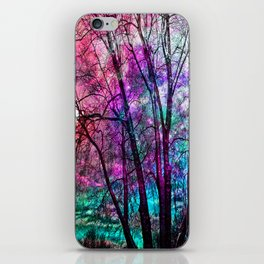 Purple teal forest iPhone Skin