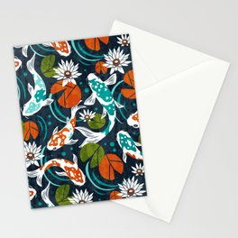 Koi Pond - Orange Stationery Cards