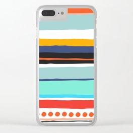 Pop Dot Line Clear iPhone Case