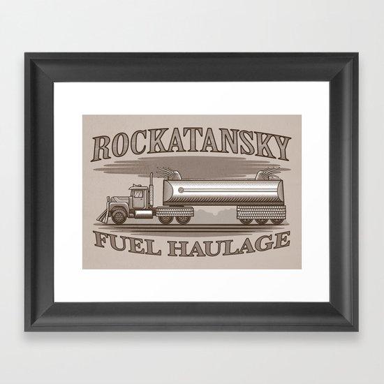 Rockatansky Fuel Haulage Framed Art Print