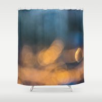 bokeh Shower Curtains featuring Bokeh by Lola