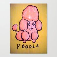 poodle Canvas Prints featuring poodle by helendeer