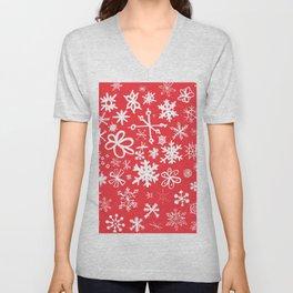 Snowflakes Unisex V-Neck