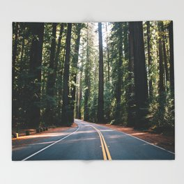 Avenue of the Giants Throw Blanket