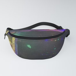 Christmas Lights Window Reflection Fanny Pack