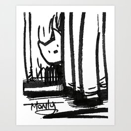 Hidden Kitty Art Print