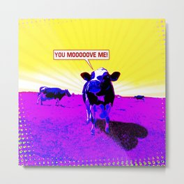 Psychedelic Cows Metal Print