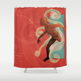 Don't be confined by the mirror's edge. Shower Curtain