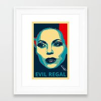 evil queen Framed Art Prints featuring Evil Queen by Pop Atelier