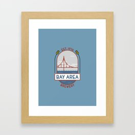 Bay Area Brewery Framed Art Print