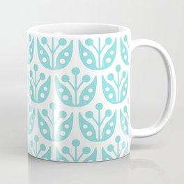Mid Century Modern Flower Pattern 731 Turquoise Coffee Mug
