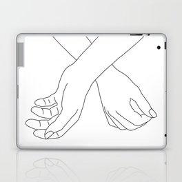 Hands line drawing illustration - Lara Laptop & iPad Skin