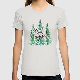 Prone to Wander - Green T-shirt